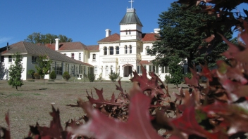 Holy Cross Seminary in autumn